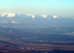 Вид на Низкие Татры на подъёме на Герлах