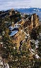 Гребень вершины 1037, вдали гора Иремель