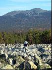 Фото 21. Гора 1317 (хр. Кумардак) с курума в Долине Юрюзани. Во время возвращения с вершины 1333 (хр. Машак) в