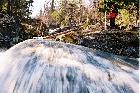 Весной в Горном Ущелье.Один из водопадиков на р. Курузяк, чуть выше Слонов