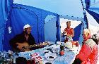 Утро в базовом лагере после возвращения
