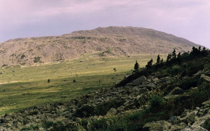 Вид на Малый Ямантау (1512,7 м) со склонов Большого Ямана