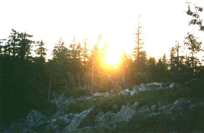Закат на перевале.