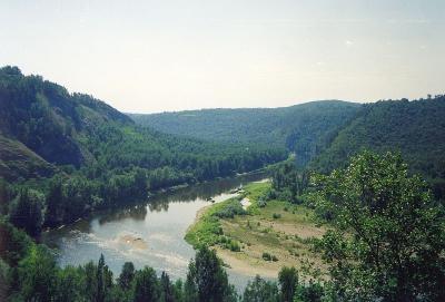 река Белая возле заповедника Шульган-Таш