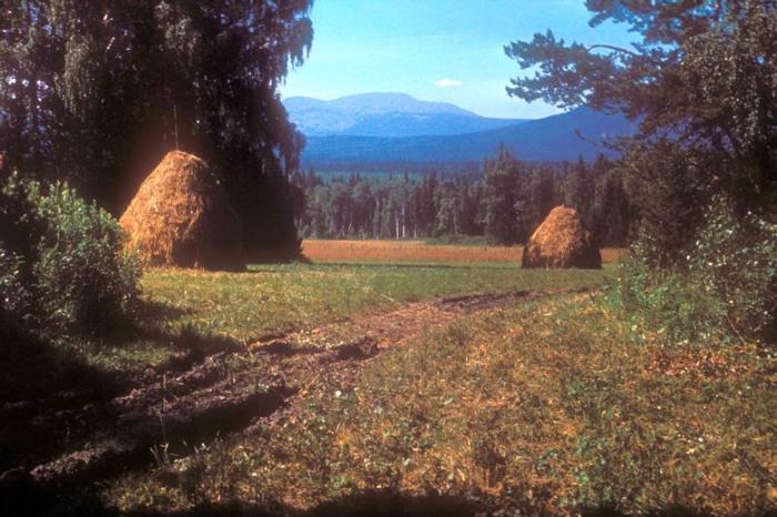 Вид на Ямантау с дороги со Стана-под-Тихой в Журболото