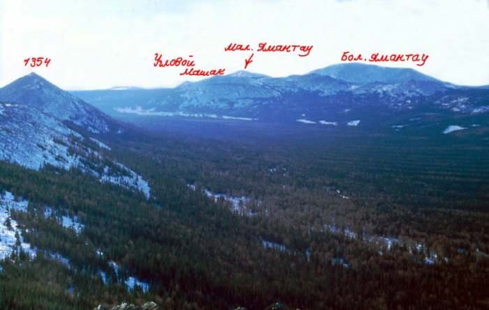 Вид с горы 1317 (хр. Кумардак)
