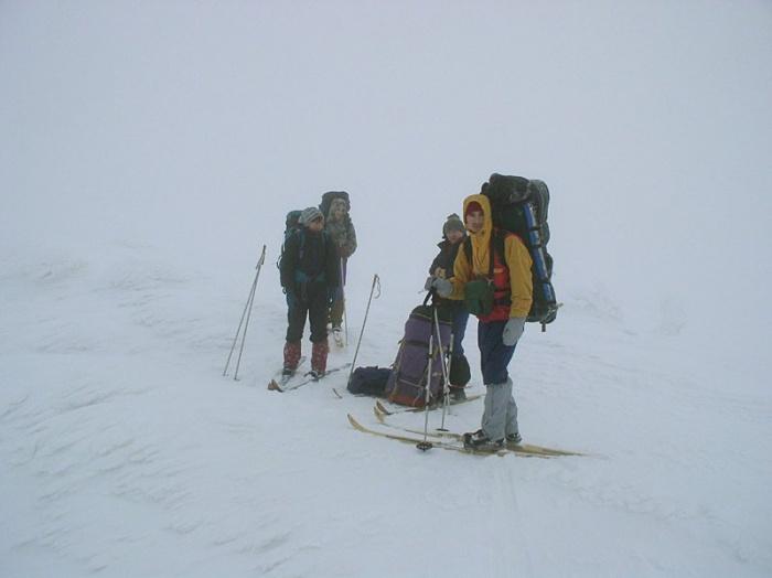 Вершина горы Широкой, видимость ниже нуля
