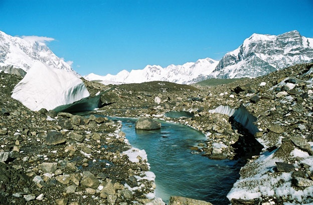 На леднике Юж. Иныльчек. Фото-1.