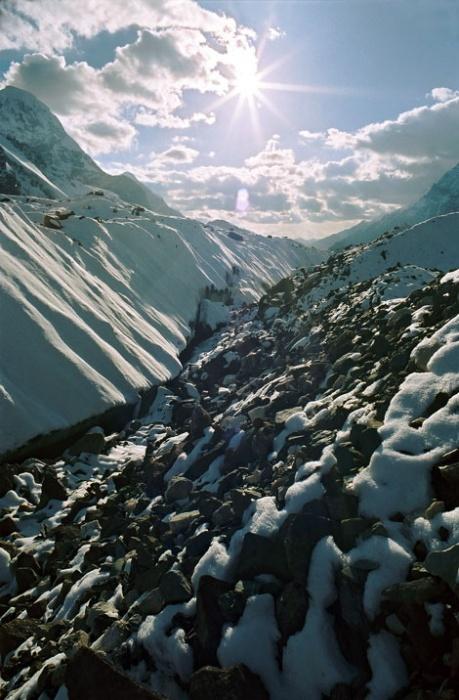 На леднике Юж. Иныльчек. Фото-2.