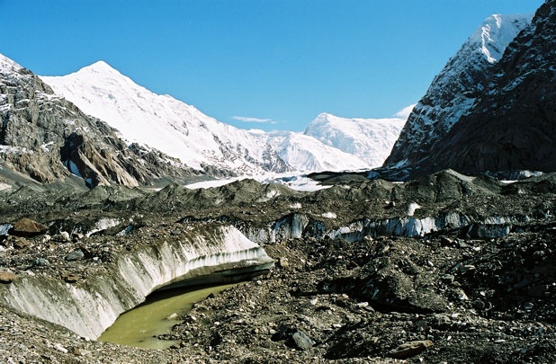 На леднике Юж. Иныльчек.  Фото-5.