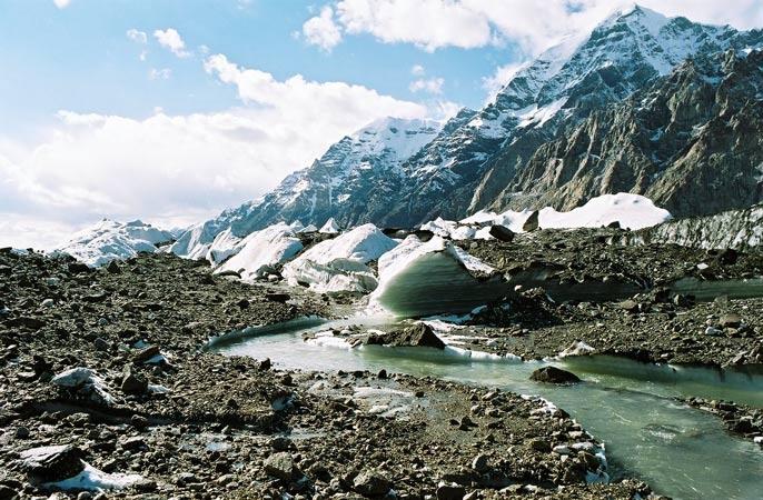 На леднике Юж. Иныльчек.  Фото-7.