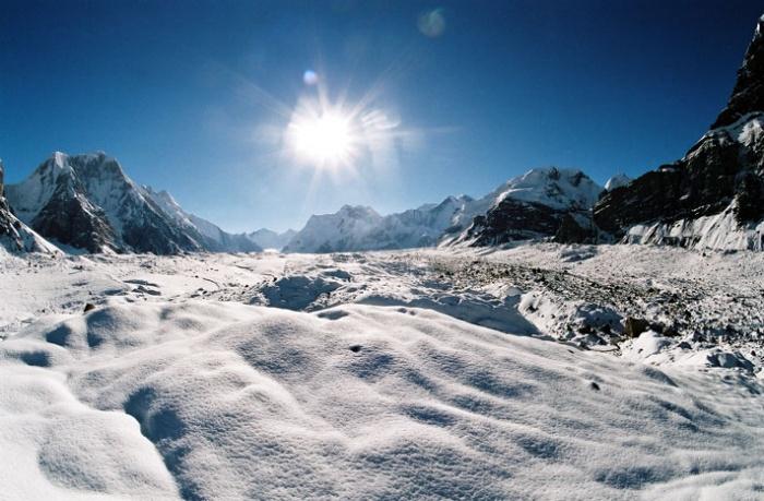 На леднике Юж. Иныльчек.  Фото-8.