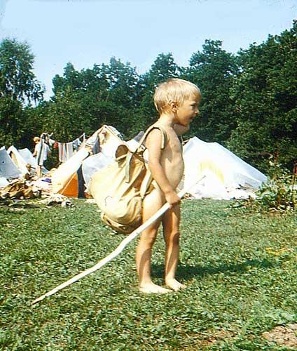 Молодой турист Андрей Безруков