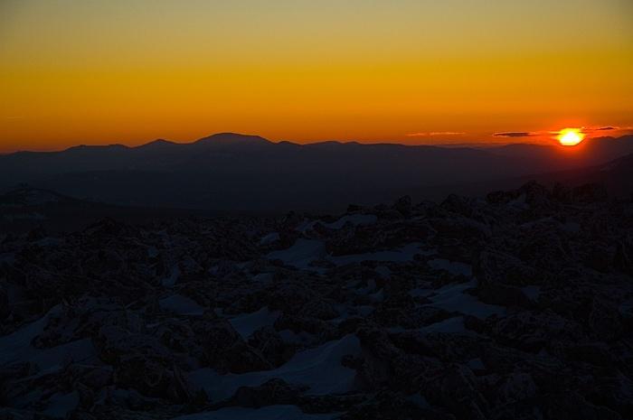 Ямантау и закат на Поперечной
