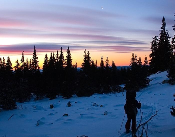 Рассвет на зимней Зигальге