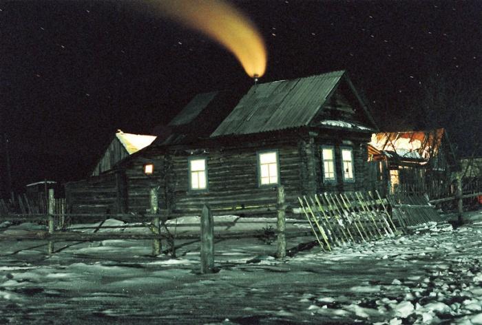 ночь. январь. мороз.
