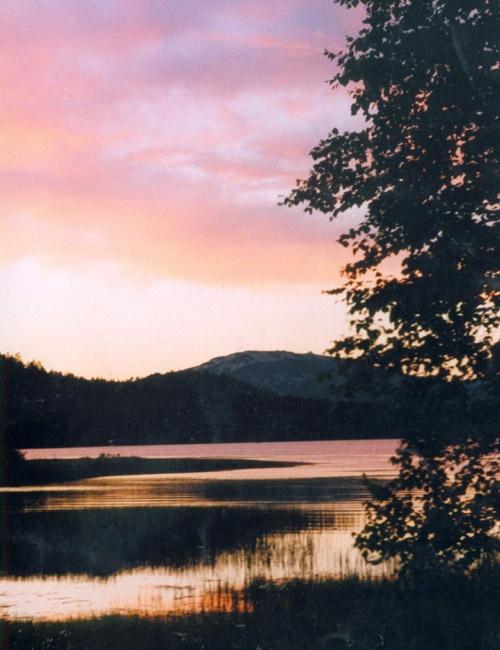 Закат на оз. Зюраткуль (место впадения р. Б.Кыл)