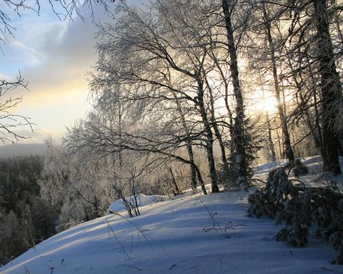 Зимний вечер... в горах