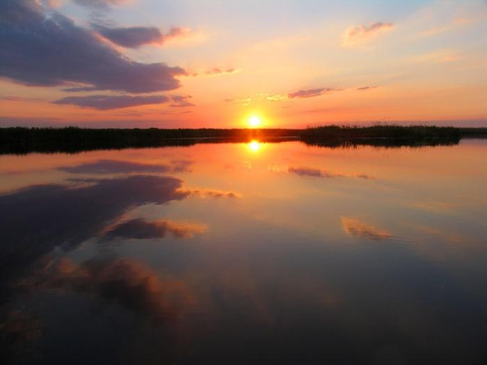 Закат на реке Синара