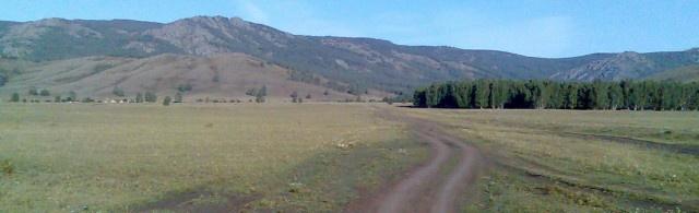 Начало дороги на перевал в Салават
