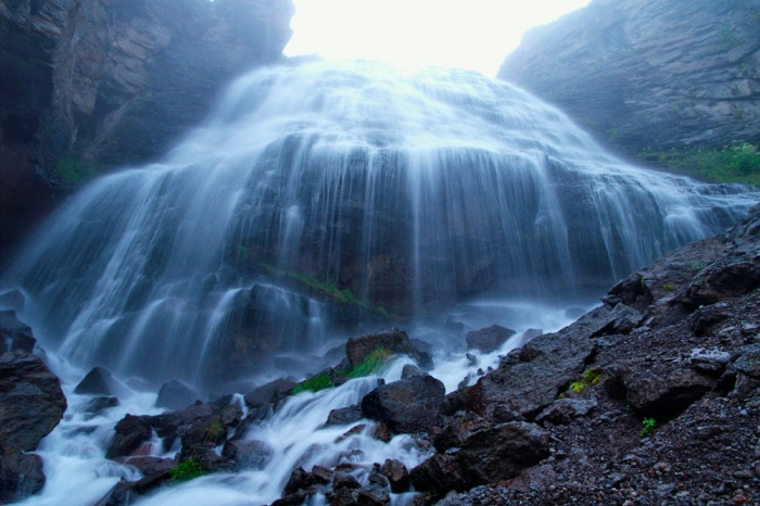 Водопад Девичья коса. август 2008