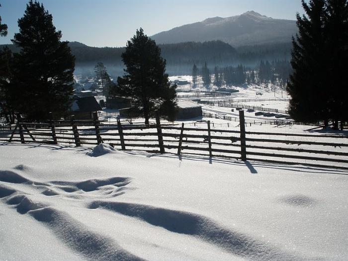 Деревня Нура, 23 февраля