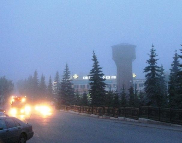 Белорецк. Утро. Туман.
