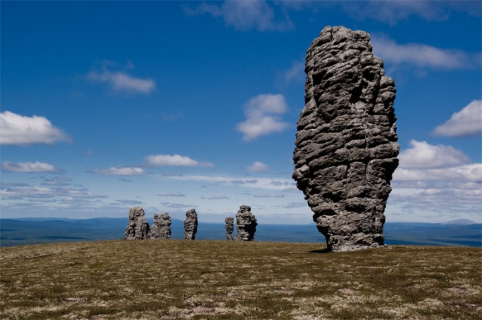 Столбы на плато Маньпупунер
