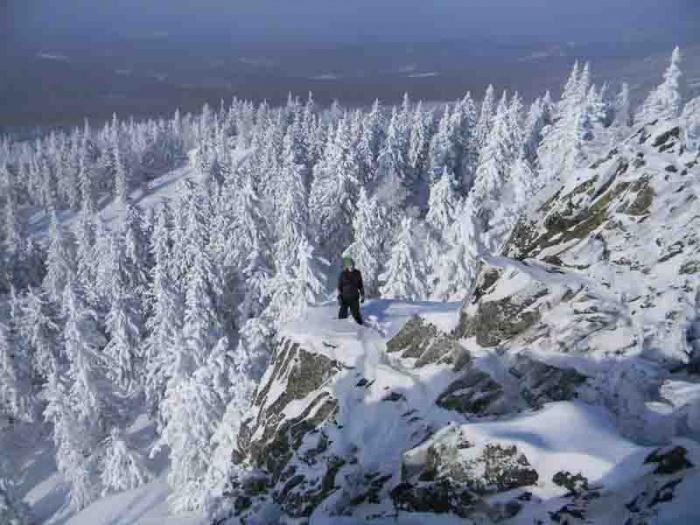 В зимних горах