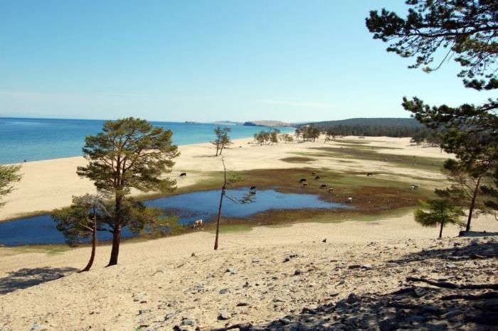 Пляжи Ольхона.