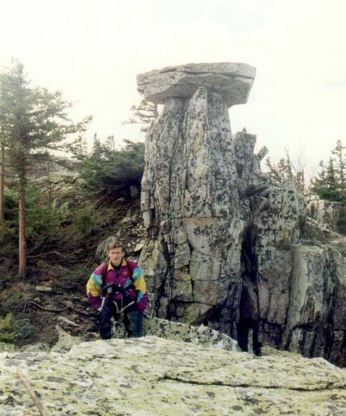 Каменный гриб на склоне г.Ицыл