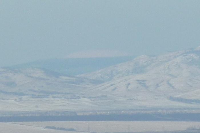 Вид на Ямантау из Магнитогорска