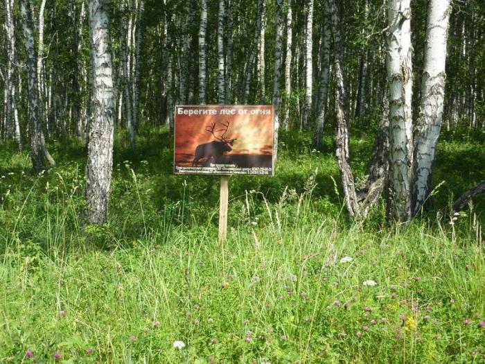 Плакат на дороге напротив истока Урала