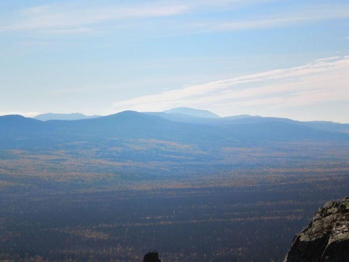 Вид на  хребет Машак и г. Б. Ямантау