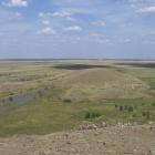 панорама горы шаманка и плотины