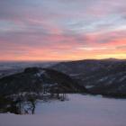 Закат над Крыктытау. Вид на юг.