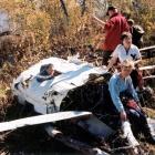останки самолёта на г.  Масим