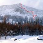 маршрут подъёма на шелом с восточной стороны