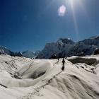 На леднике Юж. Иныльчек.  Фото-9