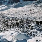 На леднике Юж. Иныльчек.  Фото-9 . Разноцветные морены.