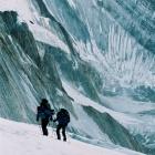 Рассвет, подъём по леднику Семёновского. Начало акклиматизацонного выхода на Хан-Тенгри.
