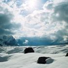 Верховья ледника Северный Иныльчек. Примерно 4150м.