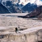 На леднике Звёздочка. подходим к месту первого промежуточного лагеря на восхождении на Победу.