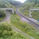 Разобранный мост на узкоколейке