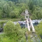 Вид с моста над мостом над железной дорогой