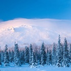 Малый Ямантау (Куянтау) в снежно-ветровой шапке на закате