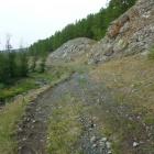 Выемка на недостроенной узкоколейке Белорецк - гора Магнитная