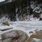 Айгирские пороги зимой.
