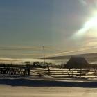 Утро на деревенской околице