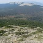 Вид с вершины г. Нургуш-3 (1247м) на южную часть хребта Нургуш